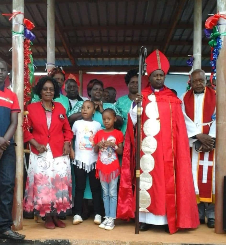 Bishop Abed Musyoka and his family
